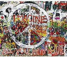 decomonkey Fototapete Graffiti 250x175 cm XL