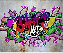 decomonkey Fototapete Graffiti 300x210 cm Design