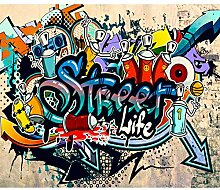 decomonkey Fototapete Graffiti 300x210 cm XL