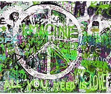 decomonkey Fototapete Graffiti 300x210 cm XXL