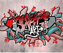 decomonkey Fototapete Graffiti 350x256 cm Design