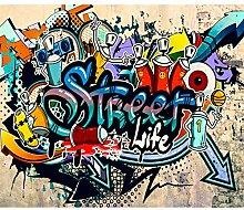 decomonkey Fototapete Graffiti 350x256 cm XL
