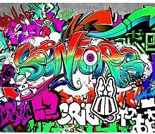 decomonkey Fototapete Graffiti 350x256 cm XXL
