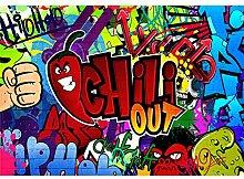 decomonkey Fototapete Graffiti 400x280 cm XL