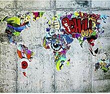 decomonkey Fototapete Graffiti 400x280 cm XXL
