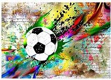 decomonkey Fototapete Graffiti Fußball 250x175 cm