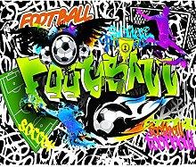 decomonkey Fototapete Graffiti Fußball 300x210 cm