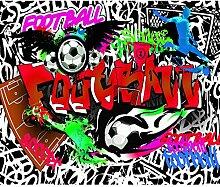 decomonkey Fototapete Graffiti Fußball 400x280 cm