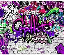 decomonkey Fototapete Graffiti Jugendzimmer