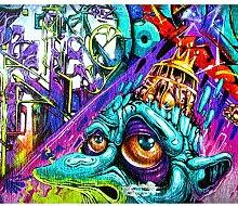 decomonkey Fototapete Graffiti Street art 200x140