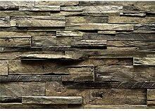 decomonkey Fototapete Holz 250x175 cm Tapete