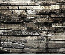 decomonkey Fototapete Holz 250x175 cm XL Design