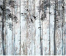 decomonkey Fototapete Holz 250x175 cm XL Tapete