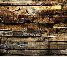 decomonkey Fototapete Holz 300x210 cm XXL Design