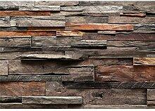 decomonkey Fototapete Holz 350x256 cm Tapete