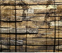 decomonkey Fototapete Holz 400x280 cm XL Tapete