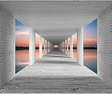 decomonkey Fototapete Landschaft 300x210 cm XL