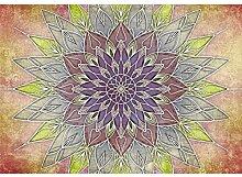 decomonkey Fototapete Mandala 100x70 cm Wandbild