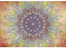 decomonkey Fototapete Mandala 300x210 cm Wandbild