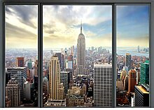decomonkey Fototapete New York Fenster 250x175 cm