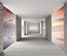 decomonkey Fototapete selbstklebend 3d Effekt Meer