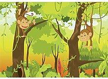 decomonkey Fototapete selbstklebend Affe Dschungel