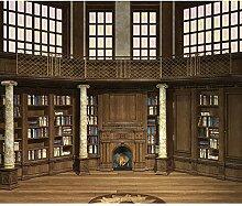 decomonkey Fototapete selbstklebend Bibliothek