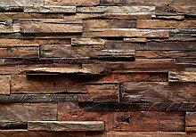 decomonkey Fototapete selbstklebend Holz 343x256