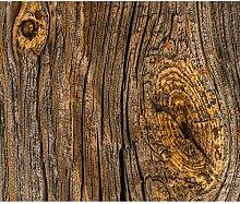 decomonkey Fototapete selbstklebend Holz 392x280