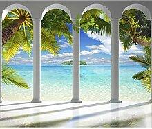 decomonkey Fototapete selbstklebend Meer Insel