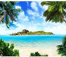 decomonkey Fototapete selbstklebend Strand 343x256