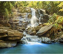 decomonkey Fototapete selbstklebend Wasserfall