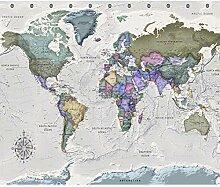 decomonkey Fototapete selbstklebend Weltkarte