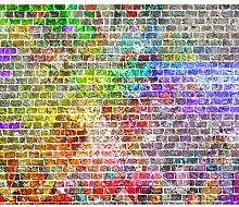 decomonkey Fototapete selbstklebend Ziegelmauer 3D