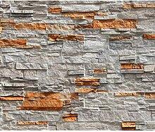 decomonkey Fototapete Steinwand Stein 300x210 cm