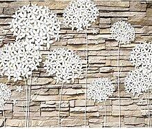 decomonkey Fototapete Steinwand Stein 350x256 cm