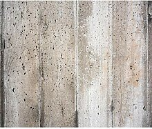 decomonkey Fototapete Steinwand Steine 400x280 cm