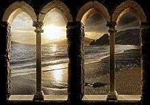 decomonkey Fototapete Strand Meer Landschaft
