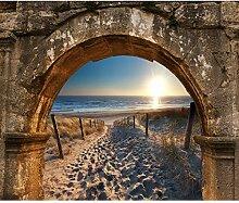 decomonkey Fototapete Strand Meer Landschaft Stein
