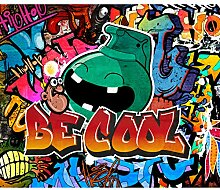 decomonkey Fototapete Street art Graffiti 350x256