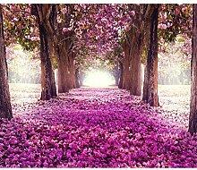decomonkey Fototapete Wald Blumen 300x210 cm