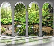 decomonkey Fototapete Wald Natur 300x210 cm XL