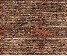 decomonkey Fototapete Ziegelsteine 300x210 cm XL