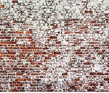 decomonkey Fototapete Ziegelwand 250x175 cm XL