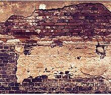 decomonkey Fototapete Ziegelwand 300x210 cm XL
