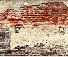 decomonkey Fototapete Ziegelwand 350x256 cm XL