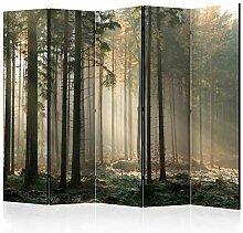 decomonkey Paravent Raumteiler XXL Einseitig Wald