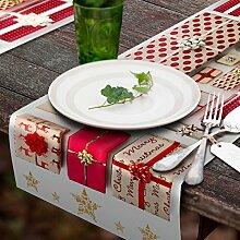 decomonkey | Tischlaufer Vlies 150x50 cm | Tischdecke Weihnachten | Einmal Tischtuch-Rolle | Einweg Tischdekoration | Weihnachtszeit Tischband 50 breit XXL