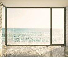 decomonkeyFototapete Fenster zum Meer 245x175 cm