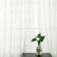 Deconovo 2er Set Voile Gardinen mit Ösen Vorhang